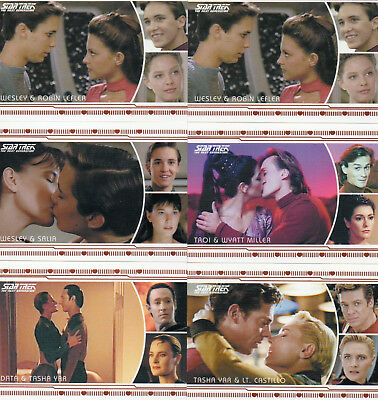 Star Trek TNG Heroes & Villains - Lot of 6 Romance Chase Cards EXC Rittenhouse