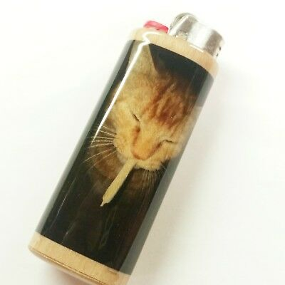 Cat Joint Lighter Case Holder Sleeve Cover Fits Bic