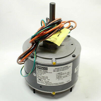D2840 Fasco 1075 RPM AC Air Conditioner Condenser Fan Motor 1/5 HP - OEM