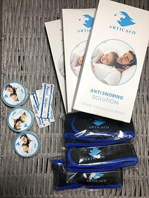 Anti Snoring Chin Strap Kit: Includes Nasal Strip, Nose Dilators and Strap