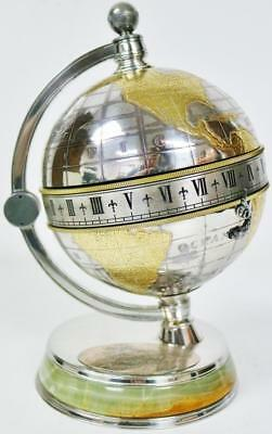 "Vintage Mappin & Webb Silver Plated ""The Greenwich Meridian Clock"" Table Clock"