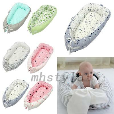 Cotton Newborn Baby Cocoon Sleep Nest Cushion Bed Removable Cover For 0-2Y New
