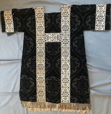 vestment: Vintage Black Dalmatic No Chasuble