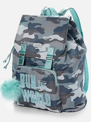 "NWT Justice Camo ""Run The World"" Rucksack / Backpack! 💕💕💕"