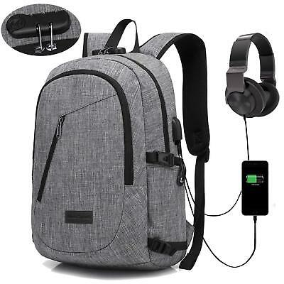 Anti-theft Backpack Schoolbag with Lock Computer Bag Daypack for Work College AU