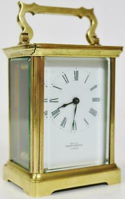 Original Antique 8 Day Mappin & Webb French Ormolu Carriage Mantel Clock C1900