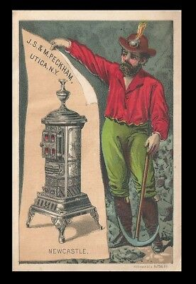 *rare*   Trade Card ~ J.s.& M. Peckham - The Newcastle Stove