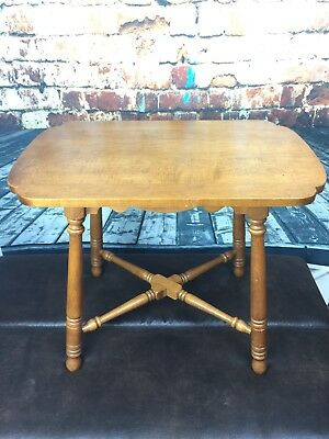 Vintage Antique Tell City Chairs Company Andover Style Table - Hard Maple