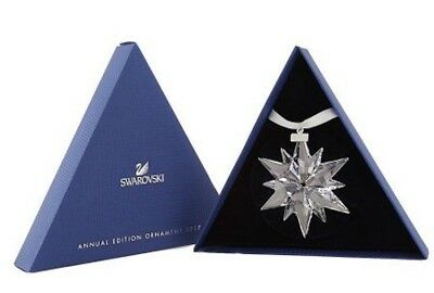 New In Box 2017 Swarovski Crystal Annual Star Ornament Christmas Snowflake Mint