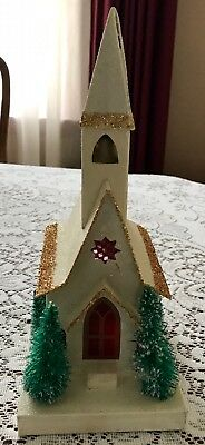 Vintage Sears Frosted Cardboard Church