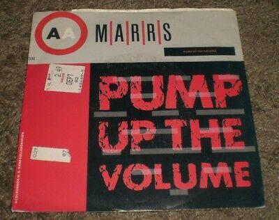 "Pump Up The Volume MARRS~1987 House 7""~Picture Sleeve~NM Vinyl~FAST SHIPPING!!!"