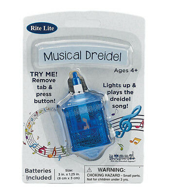 """3"""" Rite Lite Spinning Musical Dreidel with Light. Batteries included"""