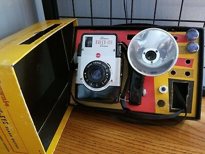 Vintage Kodak Brownie Bulls Eye Camera With Strap, Flash And Manual
