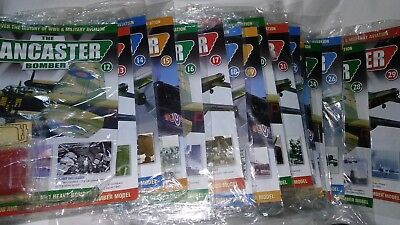 The Lancaster Bomber Build the Avro Hachette 64 sealed issues + Parts + Binder