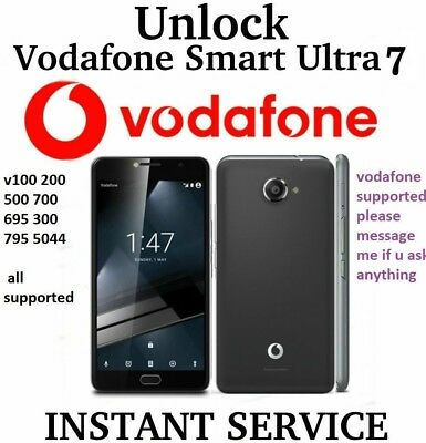 Unlock Code Ultra 7 mini 7 Turbo 7 V200 VFD200 V300 V500 V700 V695 V795 instant