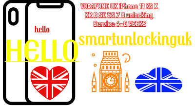 vodafone UNLOCKING IPHONE XS XS MAX FOR VODAFONE UK only IMEI NEEDED FAST