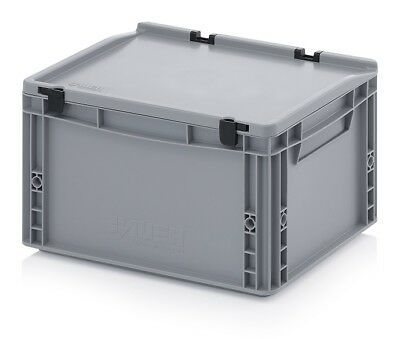 Plastic Box 40x30x23, 5 Storage Box Stacking Crates Campingbox Lid Plastic