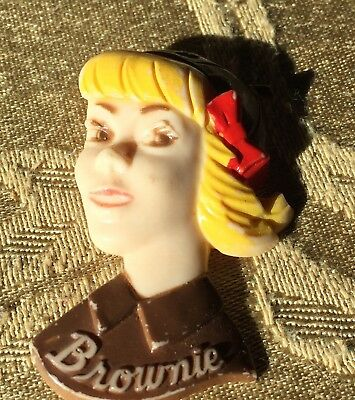 Girl Scouts/Brownie pin/antique/Rare