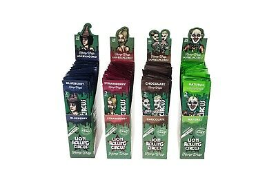 4 BOX / 25 ct. Lion Rolling Circus Hemp Wraps 4 Twisted Flavors