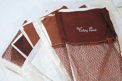 WWII Victory New Old Stock NOS Stockings Box lot of 6 Pairs Fishnet