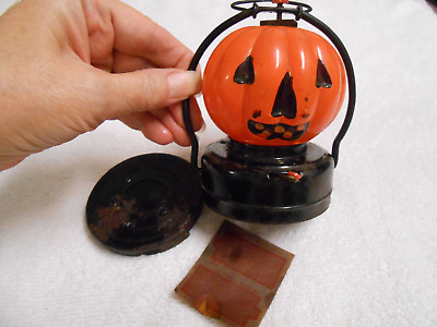 Vintage Halloween Battery Pumpkin Jack O Lantern As Is For Parts Or Repair? Lqqk
