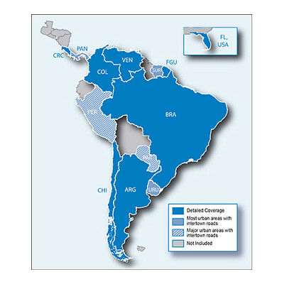 Latest 2019 2020 South America Map for Garmin Devices & Kenwood Radios, DOWNLOAD
