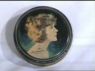 1920s Betty Compson Beautebox Powder Tin Movie Star Betty Compson Henry Clive