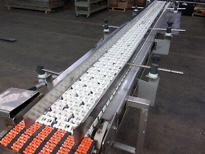 12 Inch X 127 Inch Intralox Belt Conveyor Stainless Steel Sanitary