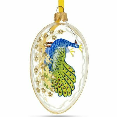 1908 Peacock Imperial Glass Egg Ornament
