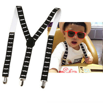 Clip-on Baby Kids Braces Boys Elastic Belts Suspenders Print Y-back Adjustable