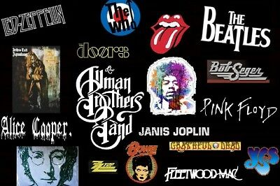 """""""BEST"""" CLASSIC ROCK SONGS / 1,500 PRE-LOADED to 16gb USB FLASH DRIVE -""""SEE LIST"""""""
