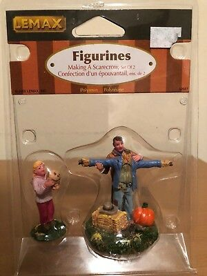 Lemax Village Making a Scarecrow #52027 Retired Harvest Crossing Spooky Town