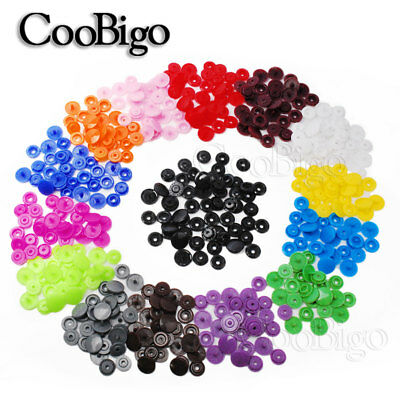 50Sets T5(12mm) Plastic Resin Snap Button Fastener Clip For Cloth Diaper Craft