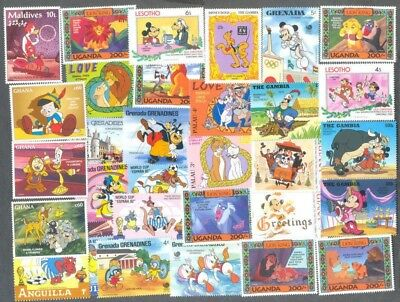 Disney 50 all different stamps collection(May 2018)