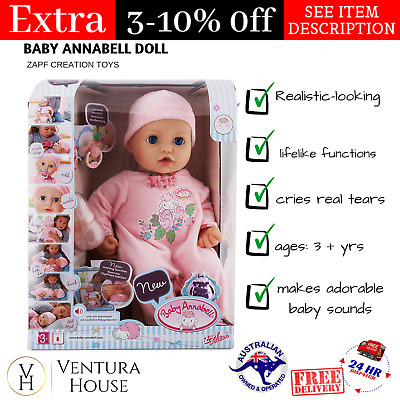 Zapf Creation My First Baby Annabell Doll Kids Toys For Girls New Christmas Gift