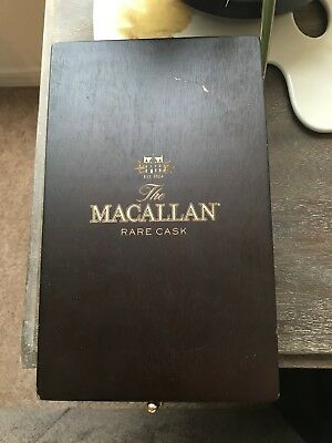 Extremely Rare THE MACALLAN RARE CASK Wooden display case