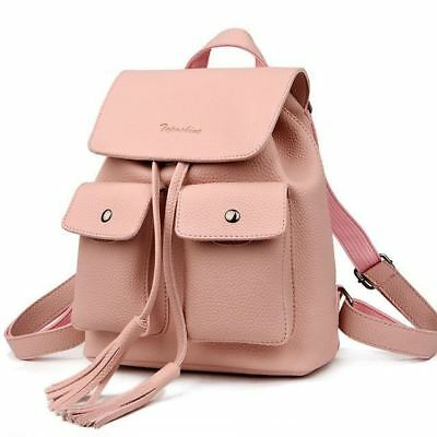 New Fashion Tassel Decorated Pu Leather Material Solid Backpack for Women KS002