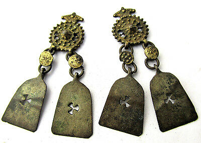 Byzantine bronze earrings Circa 13-14th century AD.
