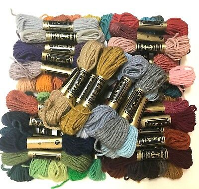 TAPESTRY WOOL BULK LOT of  50 Skeins  in Assorted Colours  ANCHOR Brand Vintage