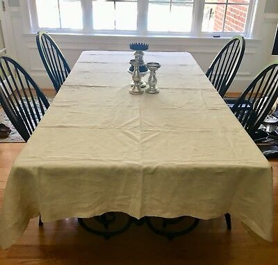 Vintage French Linen Tablecloth/sheet Perfect For Thanksgiving