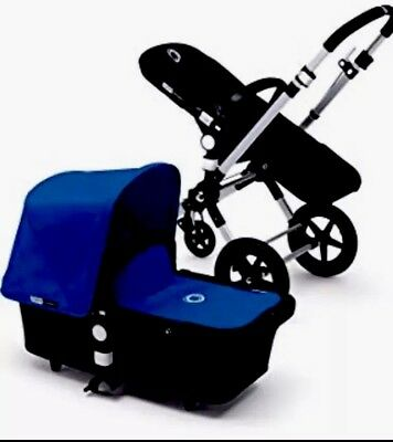 Bugaboo Cameleon 1 2 3 Canvas Fabric Hood Canopy Royal Blue Excellent Condition