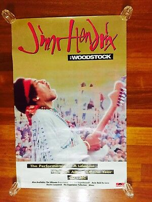 Rare Vintage Jimmy Hendrix Woodstock The Live Album of the Year Polygram Poster