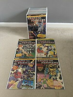 Marvel Transformers G1 UK comic Collection Mint Issues 1 - 102