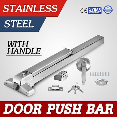Door Push Bar Durable Panic Exit Device Lock With Handle Emergency Hardware BE