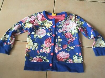 Rock Your Baby Blue Floral Cardigan  Sz 3