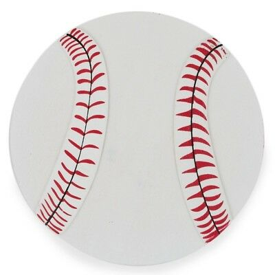 Wooden Hand Painted Baseball Cut Out 5 Inches