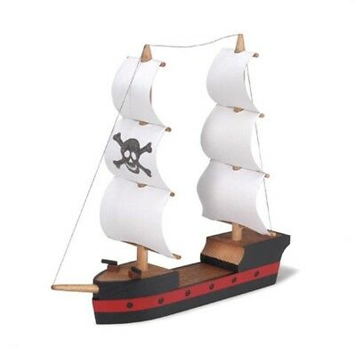 Wooden Pirate Ship Assembly Kit 4.25 Inches