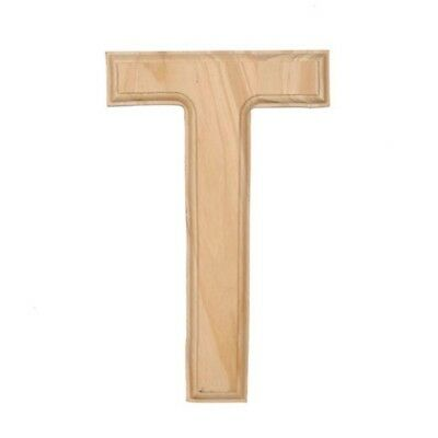 Unfinished Wooden Letter T 6 Inches