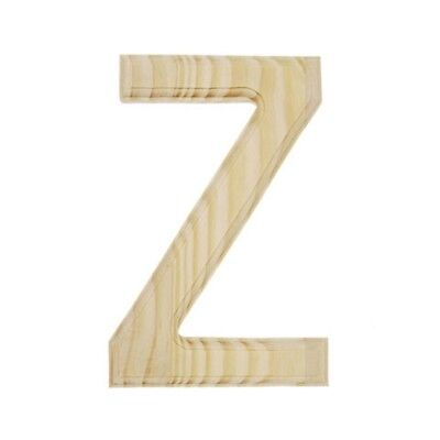 Unfinished Wooden Letter Z 6 Inches