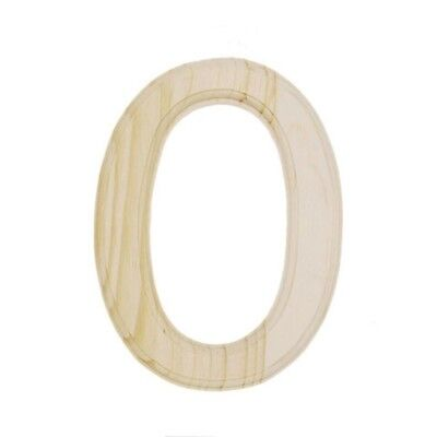 Unfinished Wooden Letter O 6 Inches